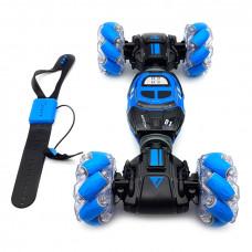 Р/у машинка перевертыш Hyper Skidding управление жестами Blue
