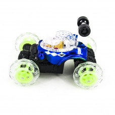 Радиоуправляемая синяя трюковая машина-перевертыш