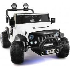 Электромобиль Jeep Wrangler White 2WD