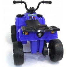Детский квадроцикл R1 на резиновых колесах - 3201-BLUE