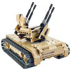 Радиоуправляемый конструктор зенитный танк QiHui Technics 457 деталей