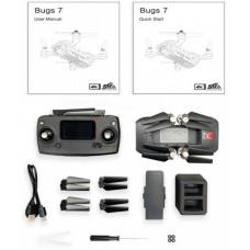 Радиоуправляемый квадрокоптер MJX Bugs 7 4K V2 с сумкой
