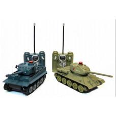 Радиоуправляемый танковый бой Huan Qi Т34 и Tiger 1:28
