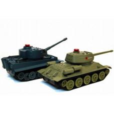 Радиоуправляемый танковый бой Huan Qi Т34 и Tiger 1:32