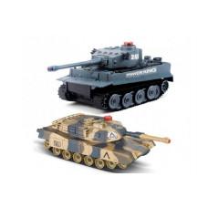 Радиоуправляемый танковый бой HuanQi Tiger vs Leopard 1:28