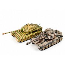 Радиоуправляемый танковый бой Русский Т90 и Немецкий KING TIGER 1:28