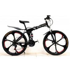 Велосипед Mercedes Benz Black на литых дисках с 6 лучами